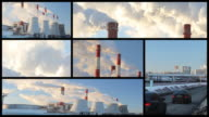 Air pollution - montage