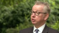 New diesel and petrol vehicles to be banned in UK from 2040 London Michael Gove MP interview SOT