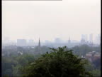 Smog warning 1315 NEIL ENGLAND London EXT London skylines with haze caused by air pollution Martyn Davies interview SOT Gives advice for asthma...