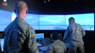 Air Traffic Control Airmen at WrightPatterson Air Force Base get trained on an air traffic control tower simulator