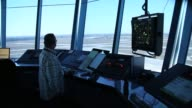 Air Traffic Controller Robert Moreland work in the control tower at Opalocka airport on March 4 2013 in Opalocka Florida Due to sequestration cuts...