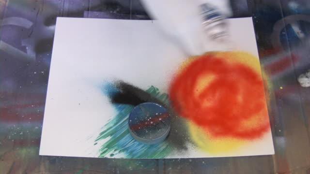 Airbrush artist painter painting spraying image. Art, graphics, illustration.