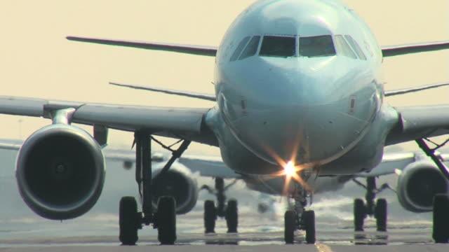 Airbus A320 Airplane Closeup Taxi