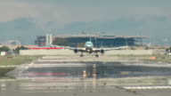 Airbus A330 Airplane Landing - Touchdown