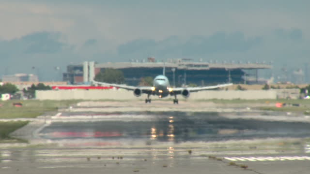 Airbus A330 Flugzeuglandung-Touchdown