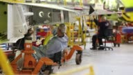 Airbus facility warehouse airbus signage interiors airplane manufacturing UK airplane wing manufacturing AIRBUS Manufacturing Facility on February 05...