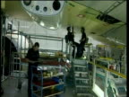 Aircraft engineers working on Airbus A380 Toulouse; 2005