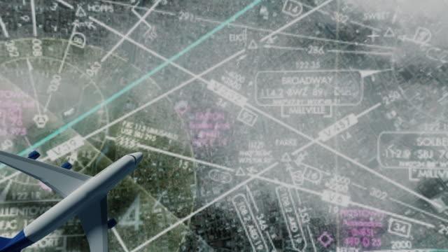 aircraft  fly map