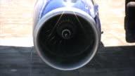 Aircraft jet engine, close-up, loopable (HD)