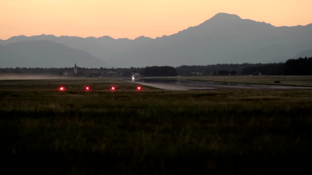 aircraft taking off a small airfield