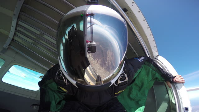 Airplane Exit - Helmet Reflection With Visible GoPro