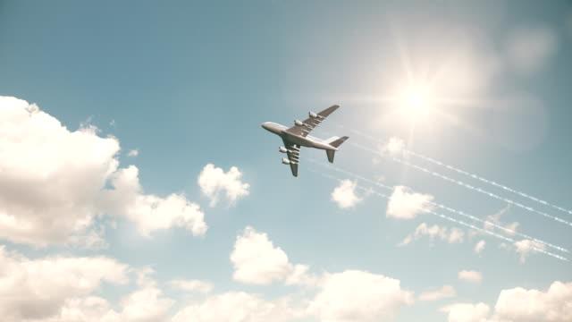 Vliegtuig vliegen in de lucht