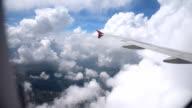 airPlane flying Sky on cloud nimbus strom