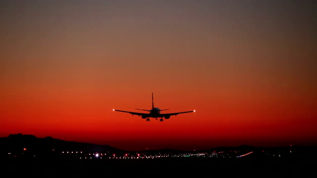 Airplane Landing Airport Vancouver