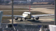 Airplane moving to take-off position, airport runway (HD, PAL, NTSC)