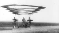 Airplane with circular sails unsuccessfully attempts to fly Early failed flight invention on January 01 1915 in Unspecified