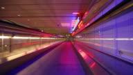 Airport conveyor walkway