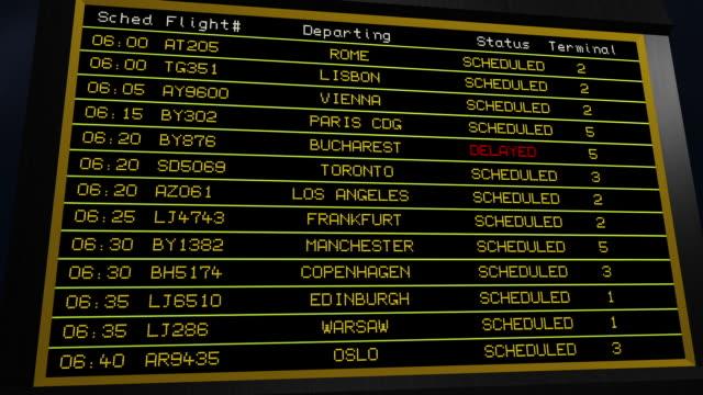 Airport Departure Billboard