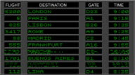 Airport Departure Board - Green