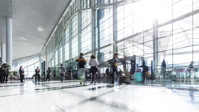 airport interior hall 4k