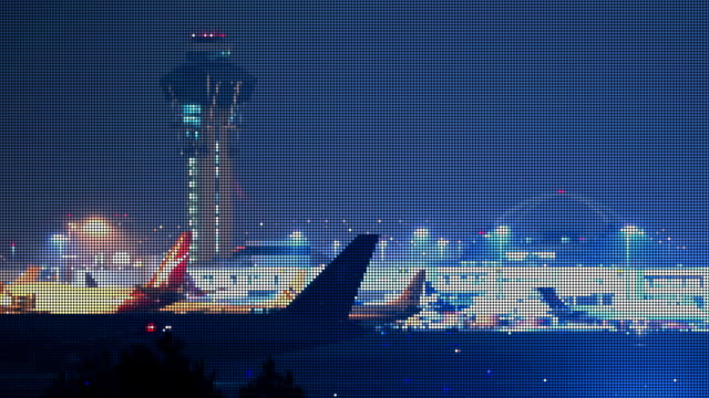 LAX Airport Jets LED Pixelated (Time-lapse)