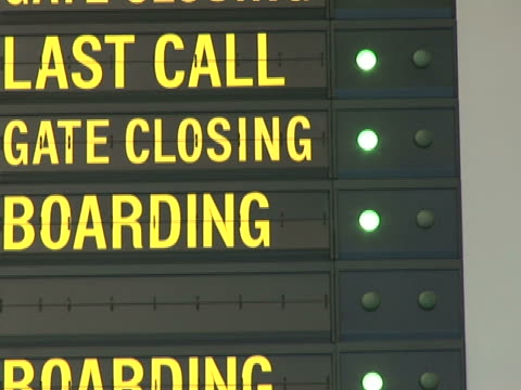 Airport last call/gate closing NTSC