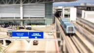 SFO Airport Shuttle - Tilt Shift Timelapse