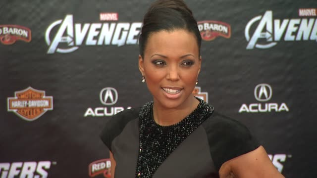 Aisha Tyler at The Avengers World Premiere on 4/11/12 in Los Angeles CA