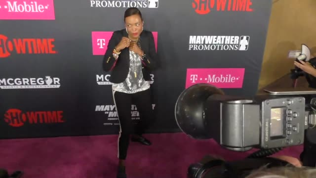 Aisha Tyler at The Floyd Mayweather Jr vs Conor McGregor Bout PreEvent VIP Party Magenta Carpet on August 26 2017 in Las Vegas Nevada