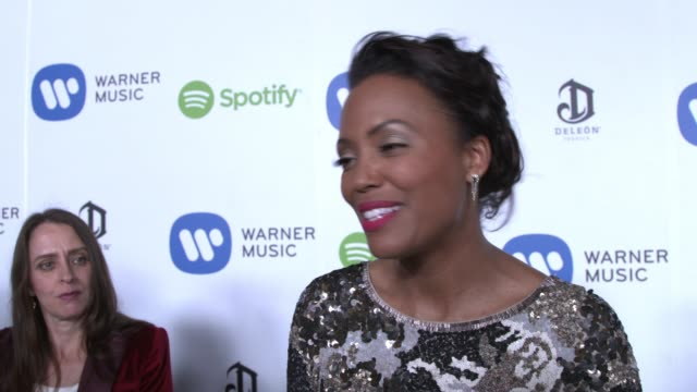 INTERVIEW Aisha Tyler on the event highlights of the show who she's excited to see at Warner Music Group Hosts Annual Grammy Celebration in Los...