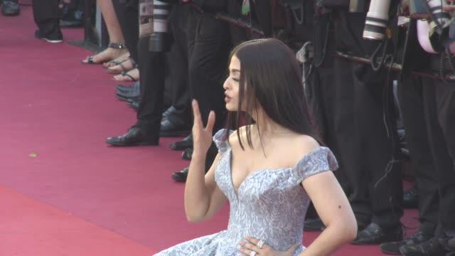 Aishwarya Rai at 'Okja' Red Carpet at Palais des Festivals on May 19 2017 in Cannes France