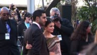 Aishwarya Rai Bachchan Abhishek Bachchan at the Ravaan World Premiere at London England