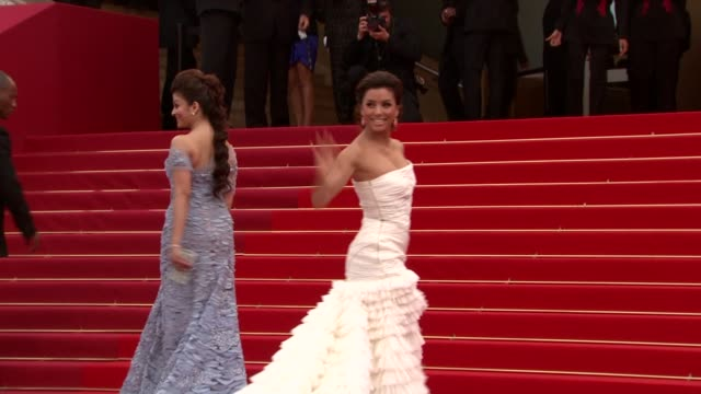 Aishwarya Rai Bachchan and Eva Longoria Parker at the Robin Hood Red Carpet Cannes Film Festival 2010 at Cannes