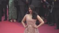 Aishwarya Rai Miss Fame Li Yuchun Araya Hargate at 'The BFG' red carpet at Palais des Festivals on May 14 2016 in Cannes France