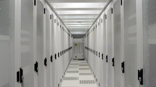 Aisle in data center