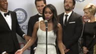 SPEECH Aja Naomi King Matt McGorry Alfred Enoch and Bill D'Elia at the 46th Annual NAACP Image Awards Press Room at Pasadena Civic Auditorium on...