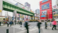 Akihabara district in Tokyo, Japan. Akihabara is famous as a major shopping center for electronic goods and anime and manga.