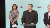 Al Gore Cameron Diaz and Kevin Wall at the Unveiling of the Global Climate Crisis Campaign and Concert at California Science Center in Los Angeles...