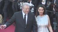 Al Gore Elizabeth Keadle at Cannes Film Festival 70th Celebration Red Carpet at Palais des Festivals on May 23 2017 in Cannes France