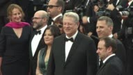 Al Gore Elizabeth Keadle Bonni Cohen John Shenk at 'The Killing of A Sacred Dear' Red Carpet at Palais des Festivals on May 22 2017 in Cannes France