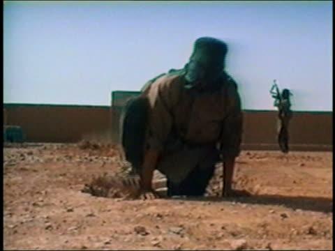Al Qaeda training exercises / running / crawling through pipes / AUDIO