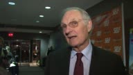 Alan Alda talks about his character in the film the struggles his character had to face in the movie and what it was like working with the cat at the...
