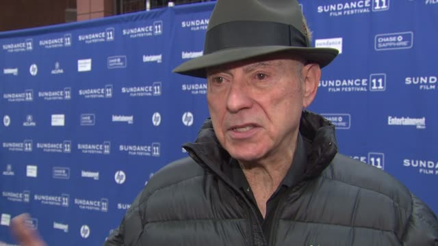 Alan Arkin on his character if he finds himself trying to convince or sell people on things and how it feels to be back at Sundance at the 'The...