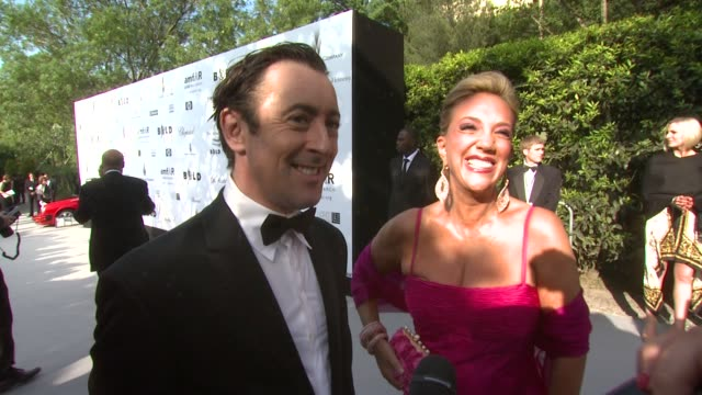Alan Cumming Denise Rich at the Cannes amfAR's Cinema Against AIDS 2008 Arrivals at Cannes