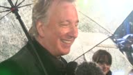 Alan Rickman at the Alice in Wonderland Royal World Premiere at London England