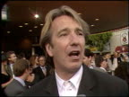 Alan Rickman at the 'Robin Hood' Premiere on June 10 1991