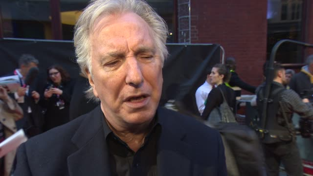 INTERVIEW Alan Rickman on King Louis XIV's sleeping habits and his faith in Kate Winslet's gardening ability at 'A Little Chaos' Love Gala at Odeon...