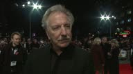 Alan Rickman on the challenges of making a comedy farce at the World Premiere of Gambit Empire Leicester Square London