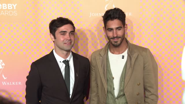 Alan Saura and Ahmed ShihabEldin at The 21st Annual Webby Awards Arrivals at Cipriani Wall Street on May 15 2017 in New York City
