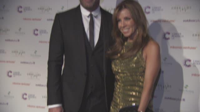 Alan Shearer and Lainya Shearer at Emerald's Ivy Ball at Emerald's Ivy Ball at Victoria Embankment Gardens on December 05 2015 in London England